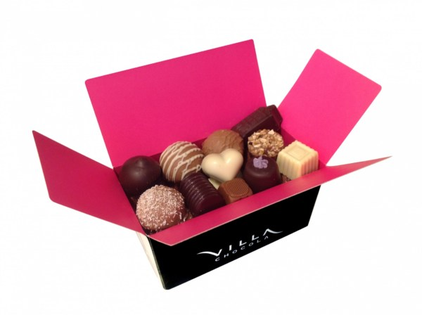 Chocolade box met bonbons