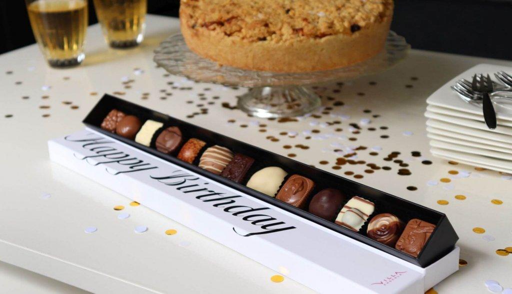 Felicitatie chocola geschenk