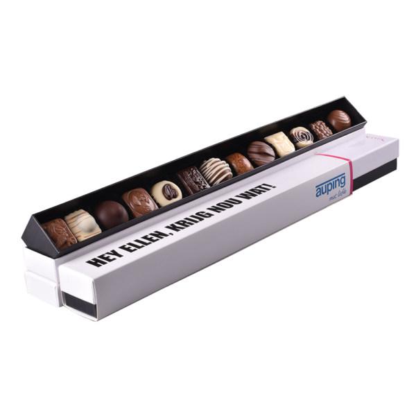 Sleeve gepersonaliseerd chocola Auping