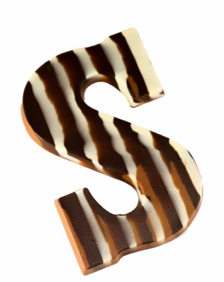 Gemarmerde melk chocolade letter