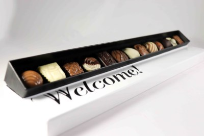 Welkom chocolade geschenk