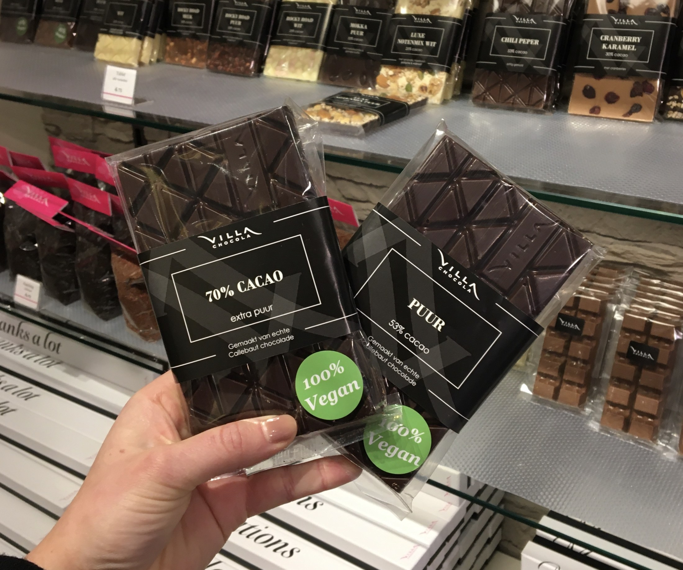 Vegan chocolade tabletten