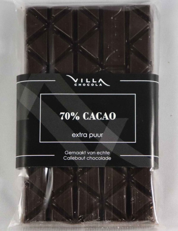 70% cacao pure chocolade tablet