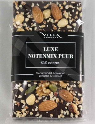 Luxe noten tablet pure chocolade