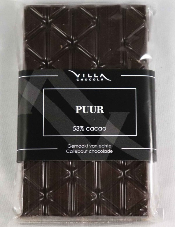 Pure chocolade tablet villa