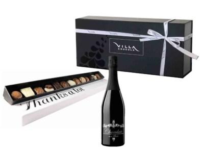 Chocolade cadeau box met drank